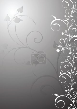Floral background grey