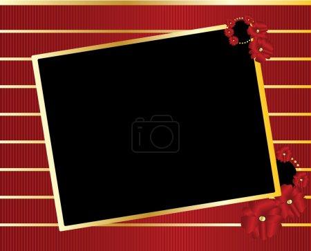 Red gold black tilted rectangle frame ba