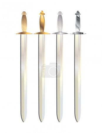 Gold and silver sword 1