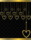 Gold heart patterned background 5