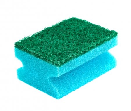 Blue and green sponge