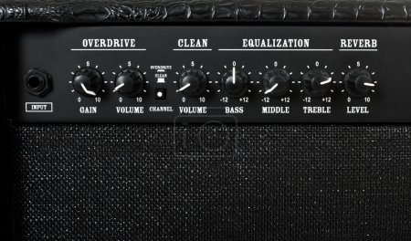 Photo for Guitar amplifier control panel closeup - Royalty Free Image