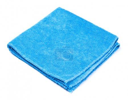 Photo pour Duster microfibre bleu isolé sur blanc - image libre de droit