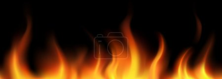 Illustration for Flame seamless border - Royalty Free Image