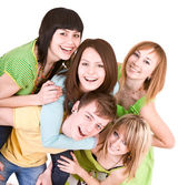 Cheerful group of young