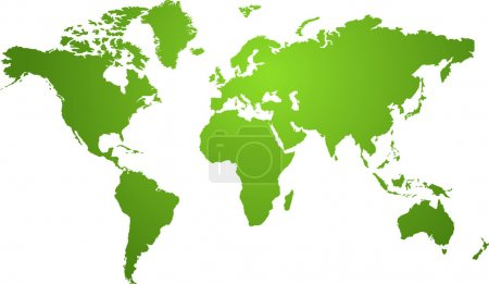 Illustration for Illustration of a world map in two tone green ideal as a background - Royalty Free Image