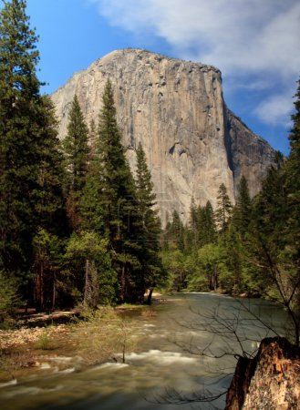 Slow motion river in front of El Capitan