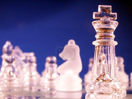Foto de Rey en foco en el tablero de ajedrez - Imagen libre de derechos