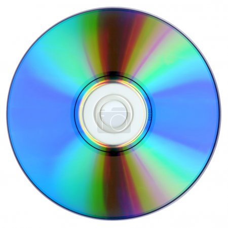 DVD isolated on white.