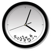 Hours which do not show time vector illustration