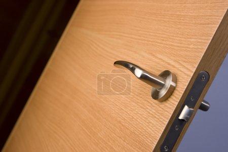 Background wood door lock house