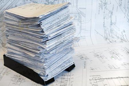 Single-sheet stationery of design drawin