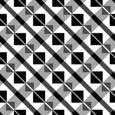 Art deco block pattern