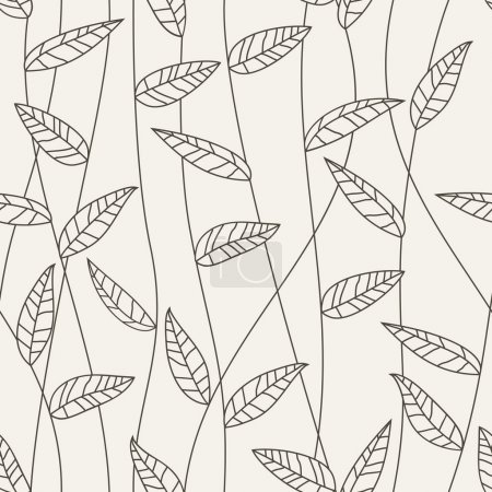 Illustration for Floral seamless pattern. Vector - Royalty Free Image