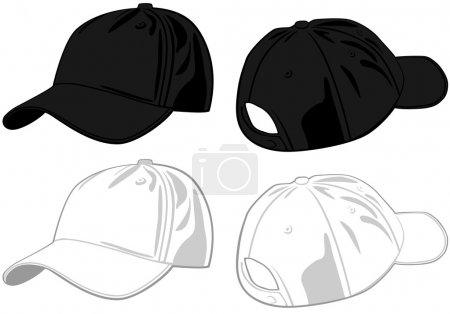 Illustration for Caps. Vector - Royalty Free Image