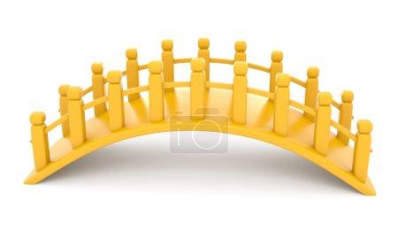 Photo for Cartoon bridge isolated on white - Royalty Free Image