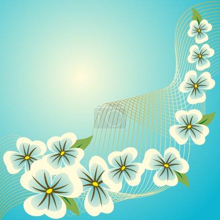 Ilustración de Patrón azul floral abstracto - Imagen libre de derechos