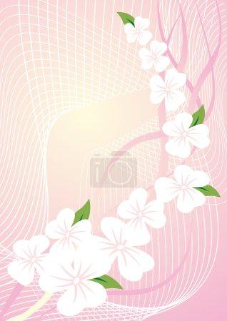 Ilustración de Patrón rosa floral abstracto - Imagen libre de derechos