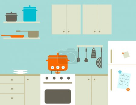 Illustration for Cooking soup at the kitchen - Royalty Free Image