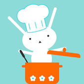 Anyone can cook! Cute bunny - chef