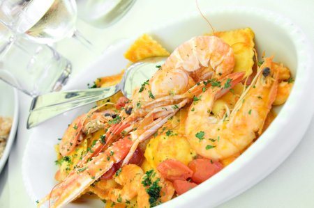 Seafood and pasta1