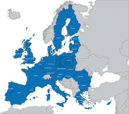 Illustration for The 27 Member State of the European Union - Royalty Free Image