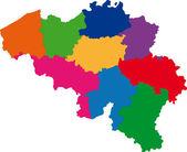 Colorful Belgium map