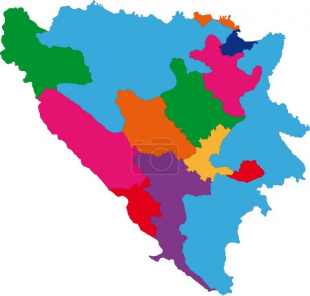 Bosnia and Herzegovina map