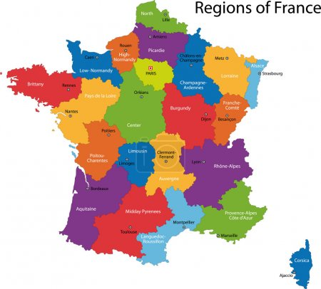 Colorful France map