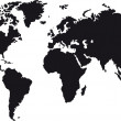 Black map of world with countries borders...