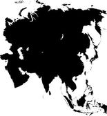 Black Asia map
