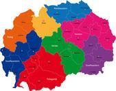 Vector Macedonia map