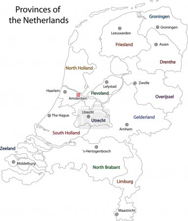 Outline Netherlands map