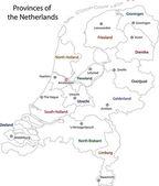 Outline Netherlands map