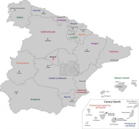 graue spanische Karte