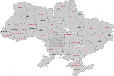 Ukraine map illustration