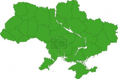 Ukraine map on white