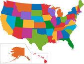 """Постер, картина, фотообои """"USA map"""""""