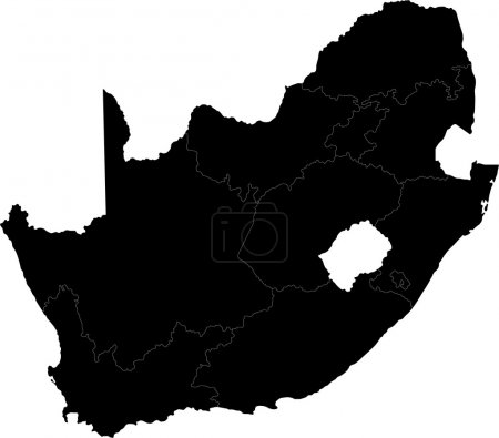 Black South Africa map