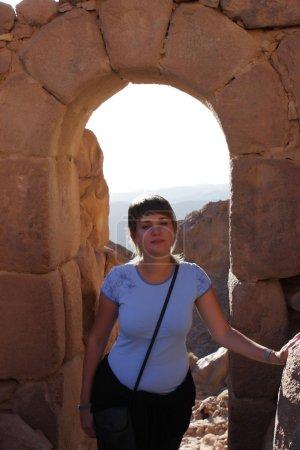 Woman on Mt Sinai