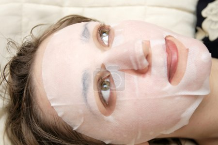 Woman in face pack