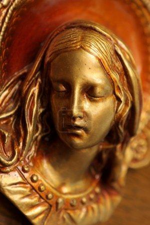 Photo pour L'ancienne gravure sur plaque de cuivre de Marie - image libre de droit