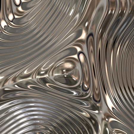 Photo for Chrome metal surface - Royalty Free Image