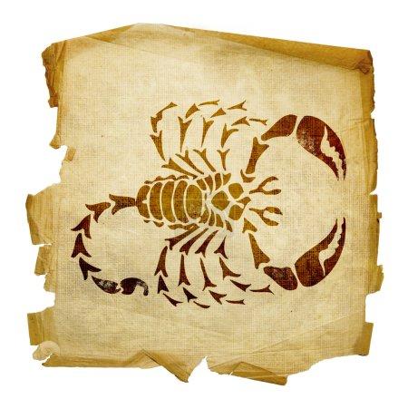 Scorpio zodiac old