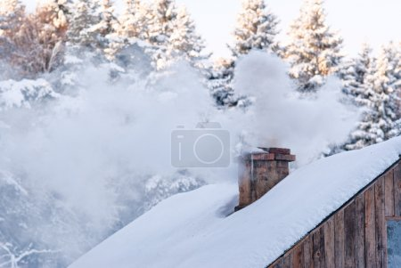 Smoking Winter Chimney