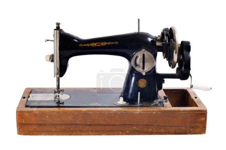 Old black sewing machine