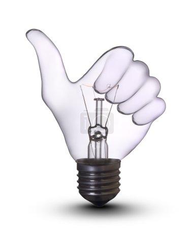 Woo-hand lamp bulb