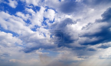 Photo for Wide angle blue sky with daylight background - Royalty Free Image