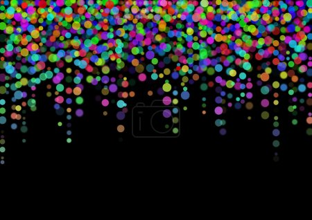 Color abstract light spots
