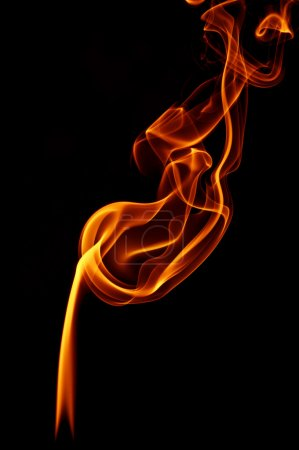 Fire smoke on black